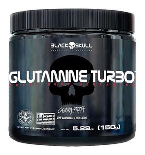 2x Glutamine Turbo 150g - Black Skull - Caveira Preta