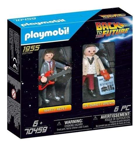 Marty Y Doctor Brown Playmobil , Volver Al Futuro