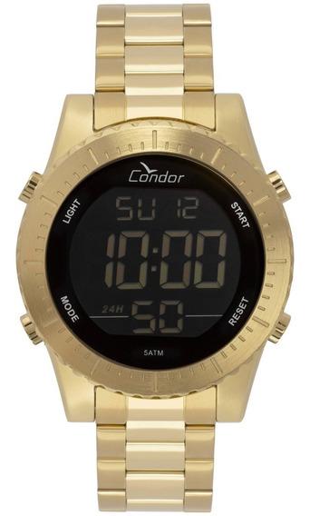 Relógio Condor Masculino Dourado 18k Esportivo Cobj3463aa/4d