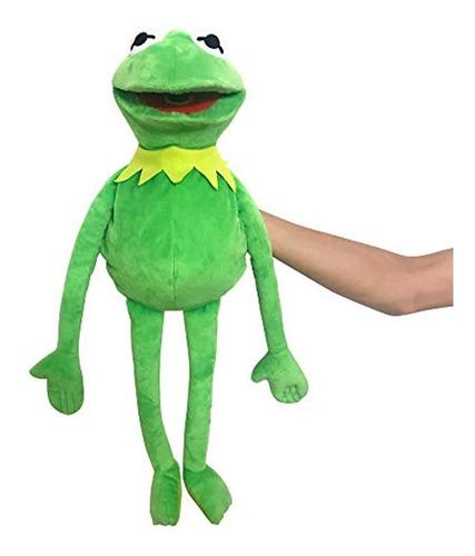 Imagen 1 de 6 de Marioneta De Rana Rene, Color Verde, 24 In.