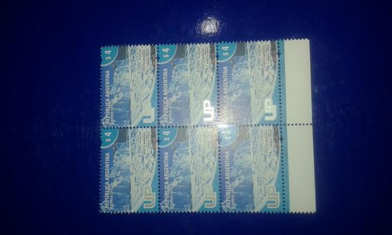 Estampillas Argentinas U.p Glaciar X 6