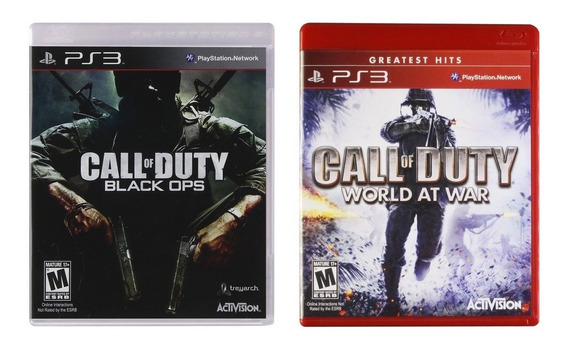 Combo Call Of Duty World At War + Black Ops Para Ps3