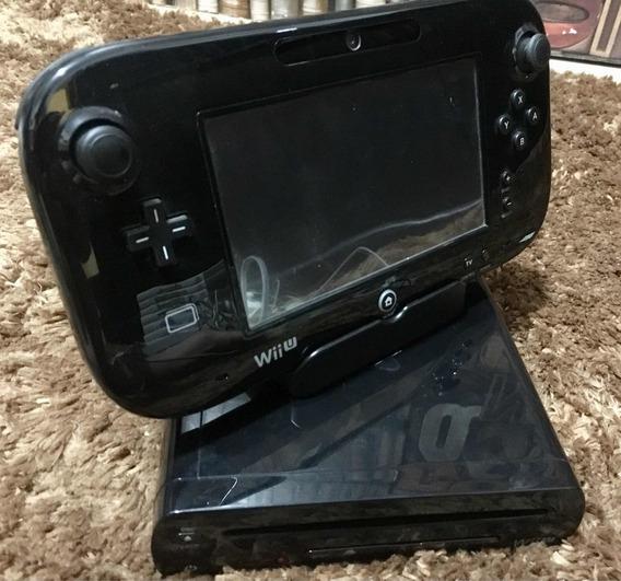 Nintendo Wii U 32gb Completo + 2 Controles E 10 Jogos