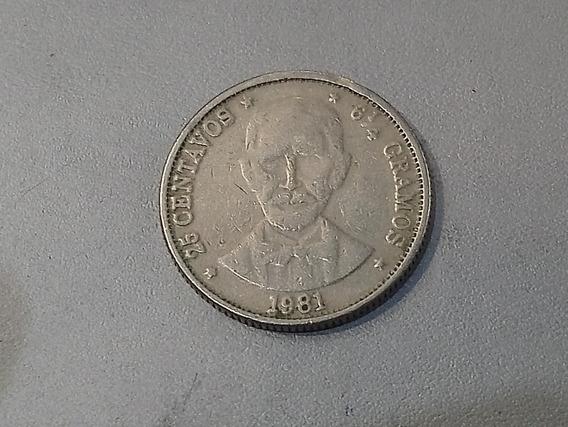 República Dominicana 25 Centavos, 1981 Km# 51 Lote 3759