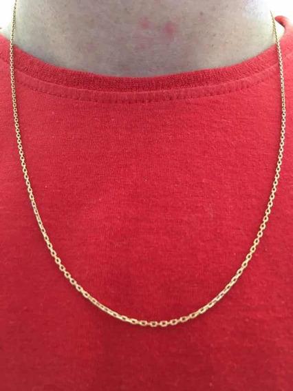 Corrente Masculina Elo Redondo 58cm 3,6g Ouro 18k