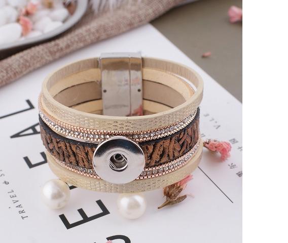 Bracelet Botão De Pressão Snap