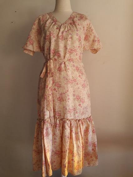 Vestido Floreado Retro Vintage Talle L