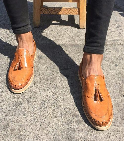 Zapato Artesanal De Mota,moda De Hombre