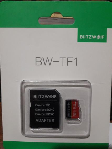 Cartão Blitzwolf Classe 10 64 Gb