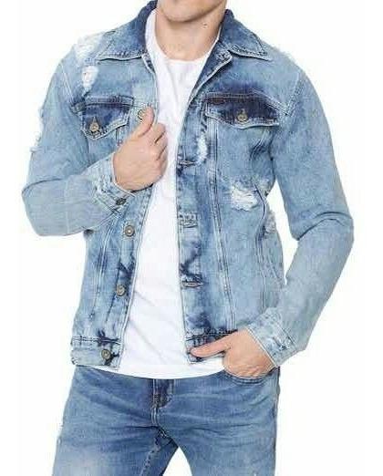 Jaqueta Jeans Oversized Com Detalhes Desfiados