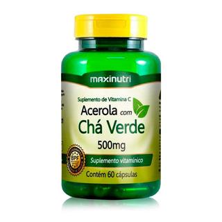 Cha Verde C/ Acerola 60 Caps - Maxinutri Lançamento