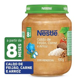 Papinha Nestlé Caldo De Feijão Carne E Arroz 170g
