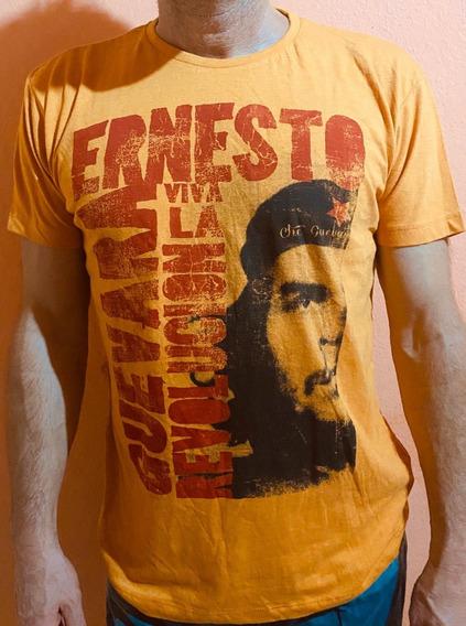 Shirt Primark Ernesto Che Guevara Tamanho L Em Cor Laranja