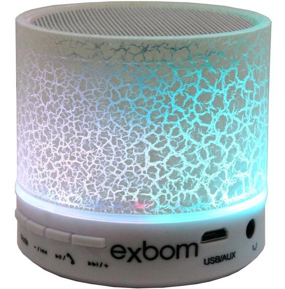 Caixa De Som Bluetooth Com Luminária De Led Rgb Crackelado