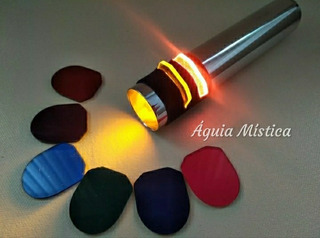 Lanterna Cromática Cromoterapia Profissional Cobre Cromado