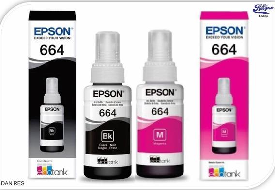 Tinta Epson 664 Genuine Preta E Magenta