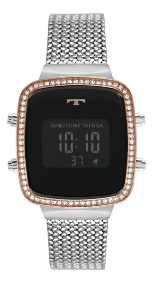 Relógio Feminino Technos Trend Bj3478ac/4p 34mm Aço Prata