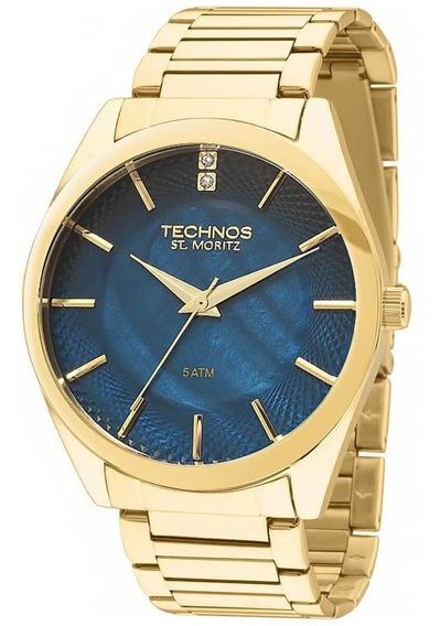 Relógio Masculino Technos Elegance St. Moritz 2036lou/4a