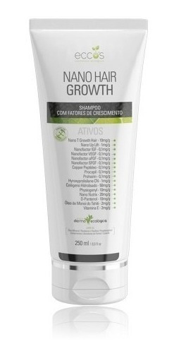 Shampoo Eccos Cosméticos Nano Hair Growth 250ml + Brinde