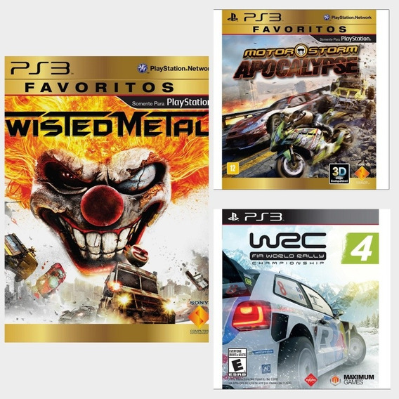 Twisted Metal + Wrc 4 + Motorstorm Apocalypse Ps3 Via Psn
