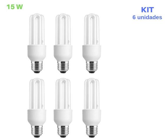 Lâmpada Compacta 15w 110v 6500k Luz Branca E27 10 Unid