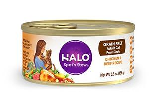 Guiso Holística Alimento Húmedo De Halo Punto Del Gato, Poll