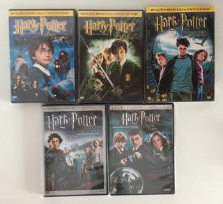 5 Filmes - Harry Potter Edição Especial C/ Dvd Duplo Coleção