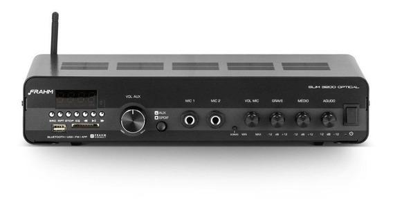 Amplificador Bluetooth Slim 3200 Frahm Usb/sd/fm Optical