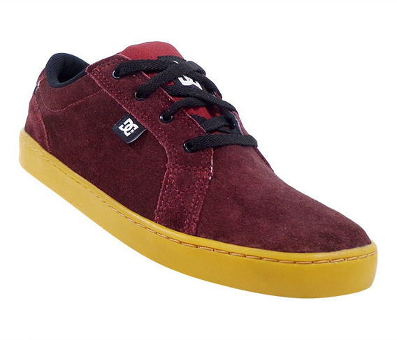 Tênis Dc Shoes Council Couro Bordô