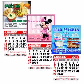 100 Mini Calendários 2018 Personalizado Com Íma.