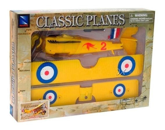 Avião Brinquedo - Kit Montar Avião Spad S.vii Biplano Candy