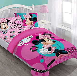 Disney Minnie Dreaming In Dots Juego De Edredón Completo Co