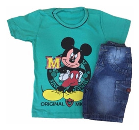 Conjunto Infantil Jeans Menino Roupas Infantis Atacado