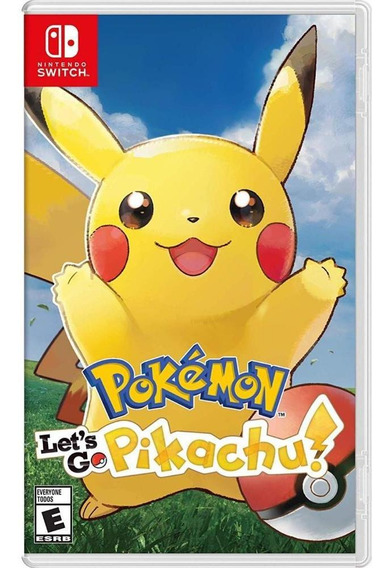 Pokemon Lets Go Pikachu Switch Mídia Física Novo Original