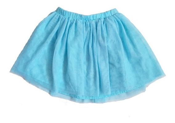 Falda De Tul Azul Para Niña Talla 9-10 Marca Disney