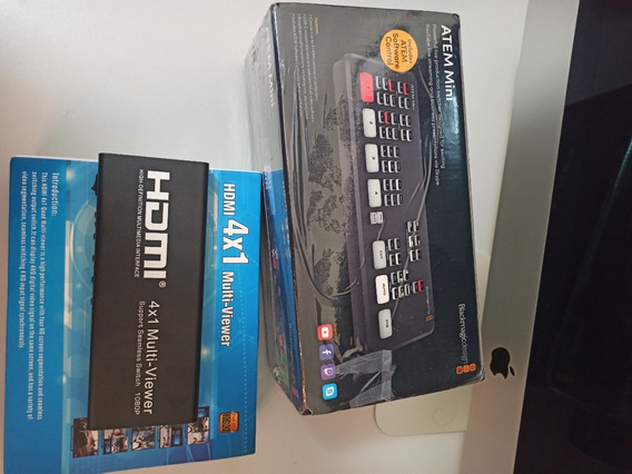Blackmagic Atem Mini + Chaveador Hdmi 4x1 Multi-viewer