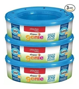 Refil Playtex Diaper Genie Kit C/ 3 = 810 Sacos