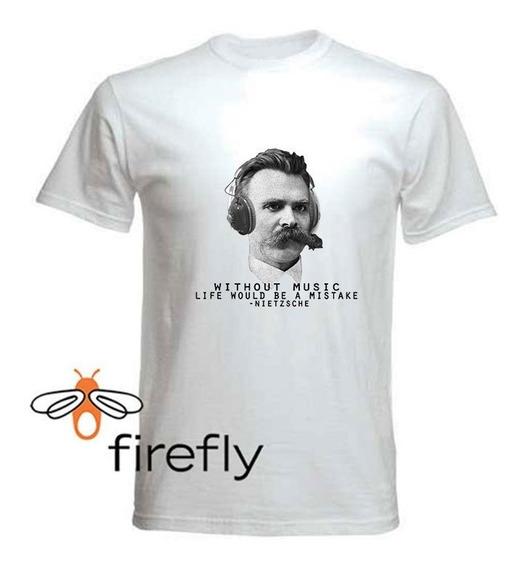 Remera Filosofia Nietzsche Hombre Blanca Coleccion 1 Firefly