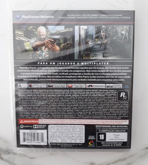 Jogo Max Payne Legendado Português Ps3 Mídia Física Lacrado