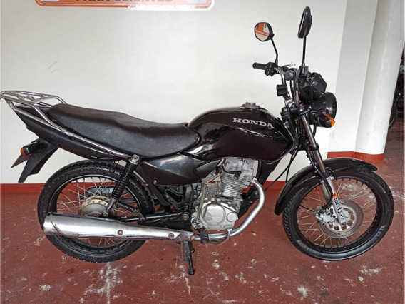 Honda Cg-125 C/ Freio A Disco, Descanso Central E Bagageiro