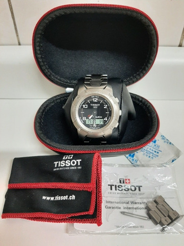 Relógio Tissot Touch Em Titânio + 1 Pulseira Tática E Estojo