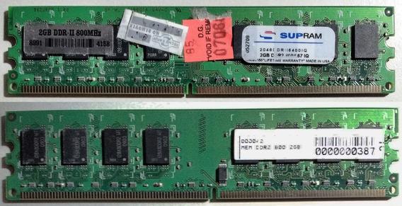 Memoria De Pc Ddr2 Supram 2 Gb - 800 Mhz Testeada !!!