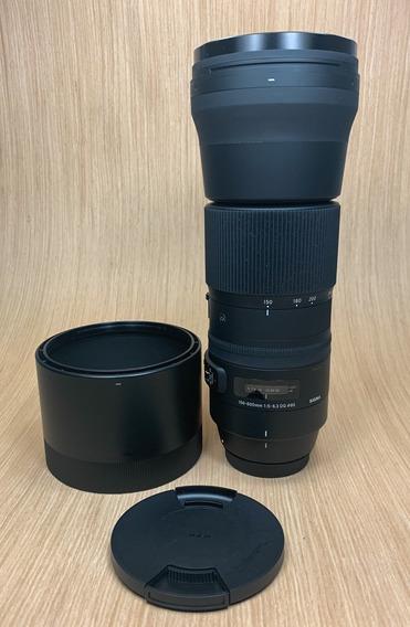 Lente Sigma 150-600mm F/5-6.3 Dg Os Hsm Para Canon 150-600mm