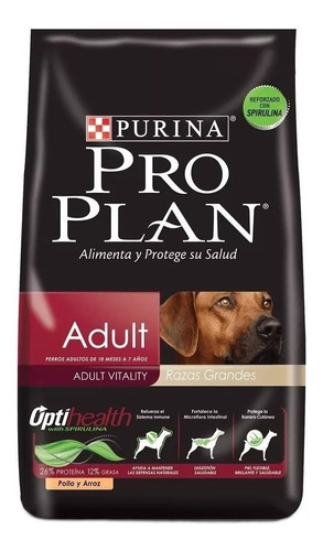 Ração Pro Plan OptiHealth Adult para cachorro adulto da raça grande sabor frango/arroz em saco de 15kg
