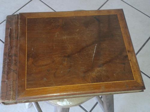 Album De Fotografia Antigo Capa De Madeira (only Wood658)