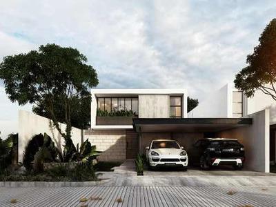 Casa Nueva De 4 Recámaras En Venta En Arbórea, Modelo B, Conkal, Mérida Norte