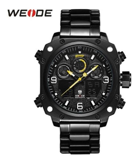 Relógio Weide Preto, Analógico E Digital, Prova D