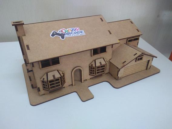 Casa Dos Simpsons Diorama Para Montar Quebra Cabeca 3d