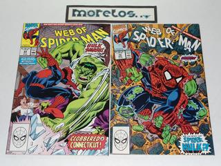 Web Of Spider-man #69 Y #70 -1ra Aparicion De Spider-hulk-