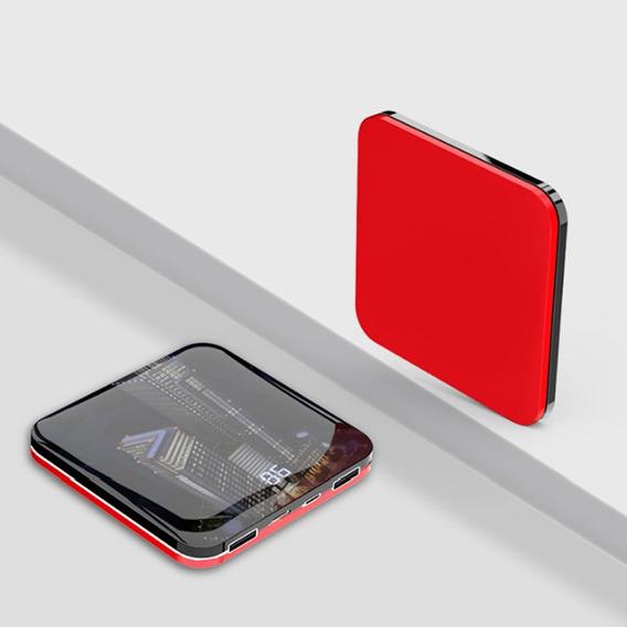 Ultrathin Espelho Superfície Mini Portátil Móvel Poder Banco